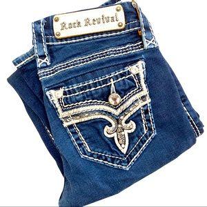Rock Revival Janelle boot dark wash jeans size 24